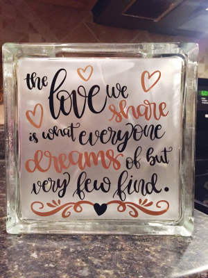 THE LOVE WE SHARE...$35.ea