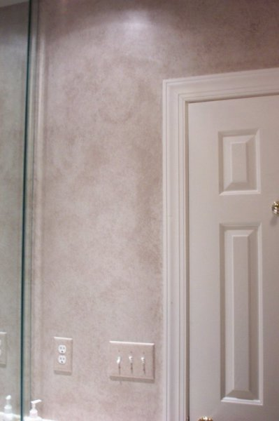 light grey tuscan stone bathroom faux finish decorative painting raleigh chapel hill