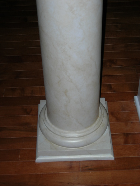 faux marble painted column, gold bella fresco, wakefield plantation country club, fabulous finishes by michelle