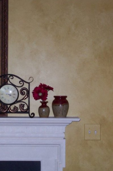 tuscan stone golden glaze living family room faux finish decorative painting raleigh
