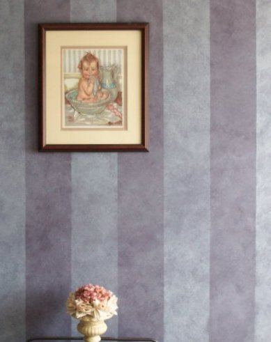 purple eggplant colorwash stripes master bathroom  faux finish decorative paint raleigh
