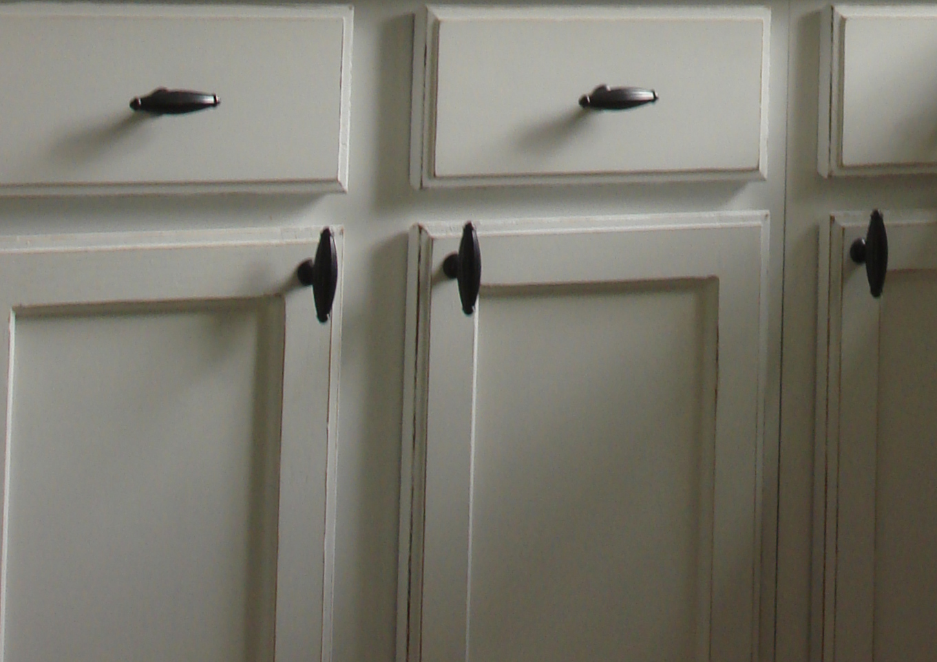 white painted distressed oak kitchen cabinets falls river  faux finish decorative paint raleigh