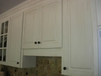 oil glazed melamine kitchen cabinets morrisville  faux finish decorative paint raleigh