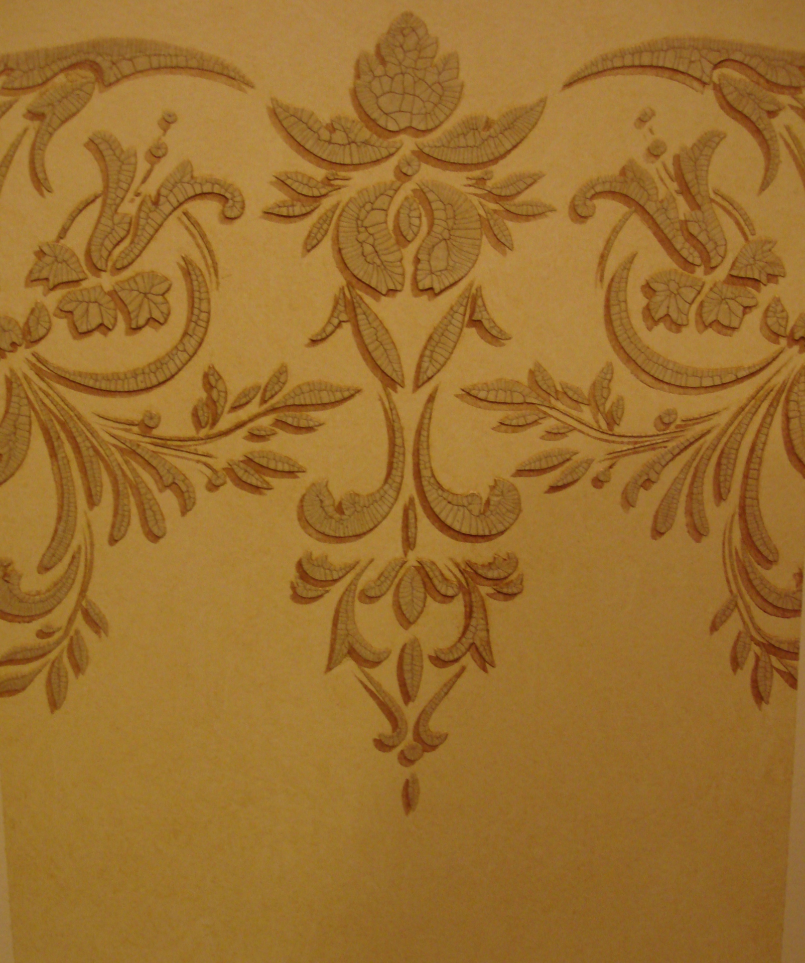 crackle raised stencil with shadow faux finish decorative paint raleigh