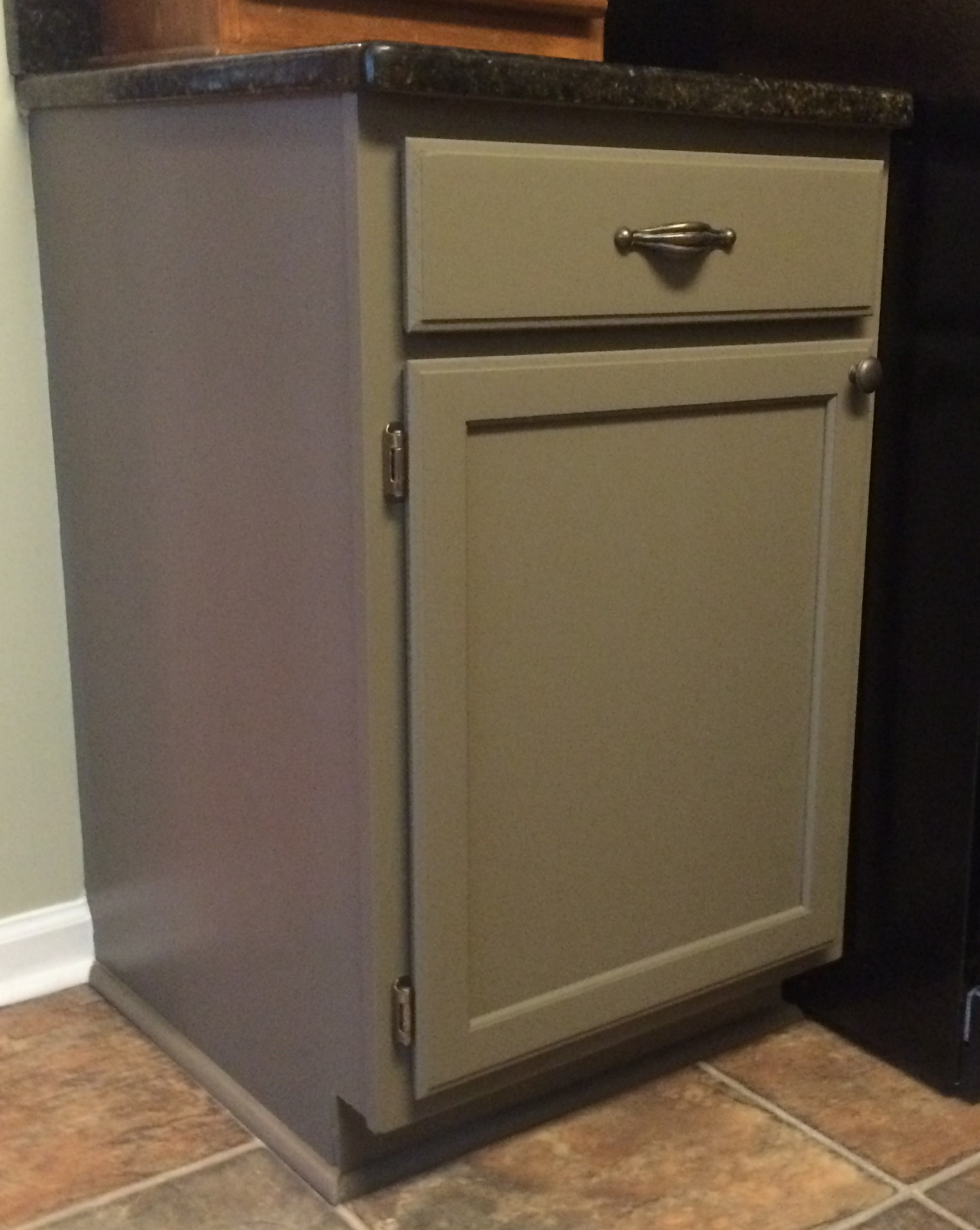 custom color oak painted kitchen cabinets reclaim beyond paint  faux finish decorative paint raleigh