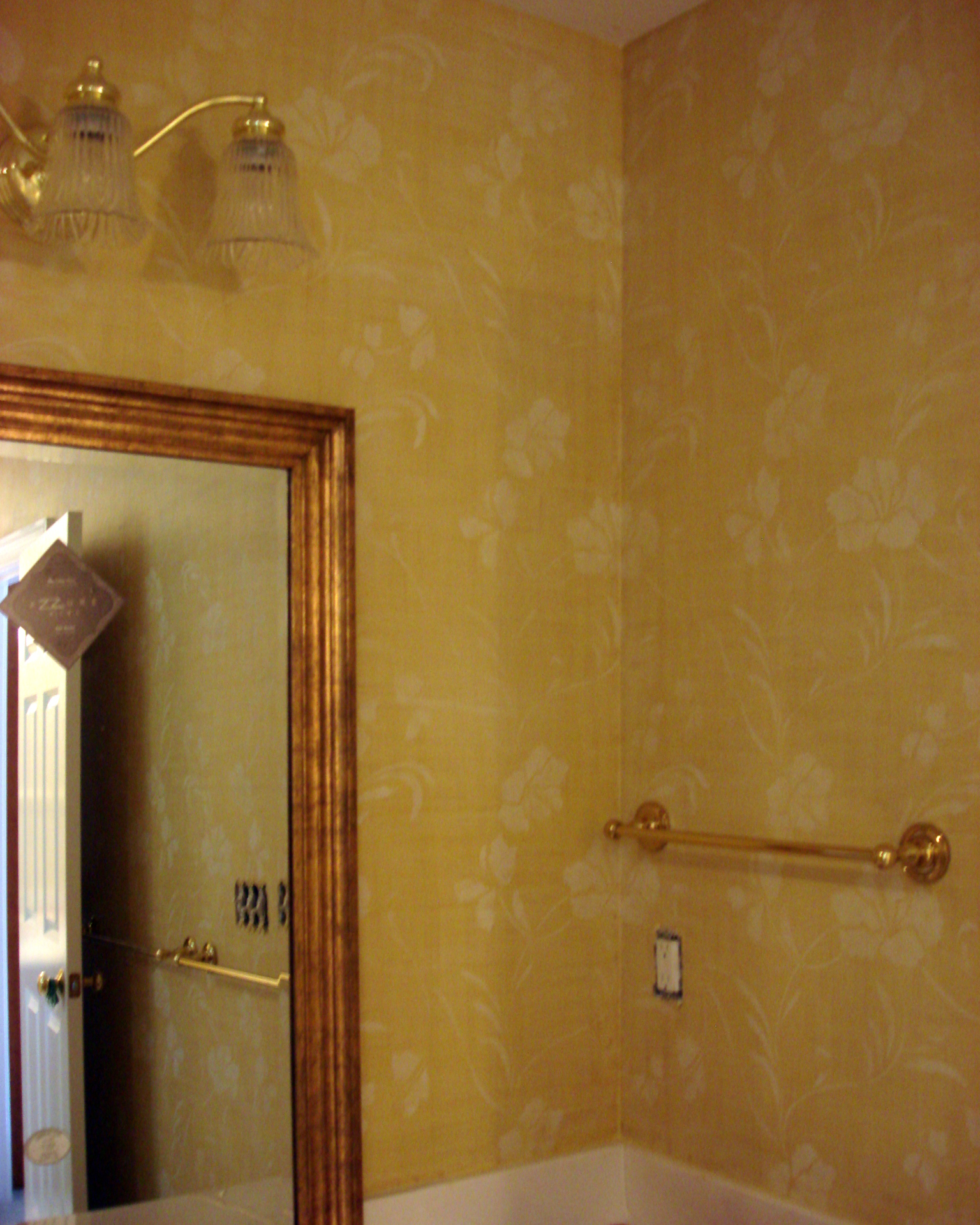 yellow linen glaze finish mikala's tropic wallovers durham faux finish decorative paint raleigh