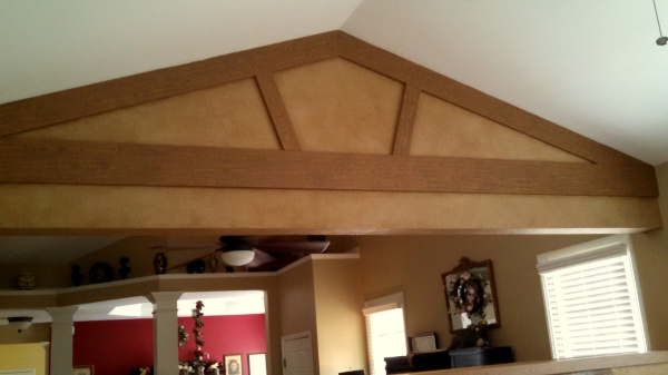 faux woodgrain beams, fabulous finishes by michelle, falls river