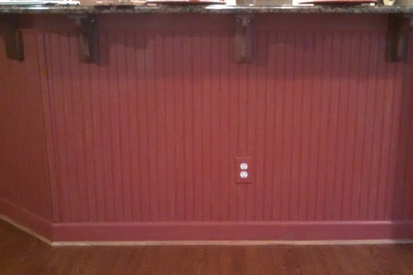 red distressed beadboard kitchen island fabulous finishes by michelle