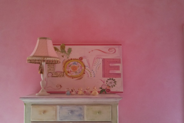 whitewashed pink girls bedroom wakefield  faux finish decorative paint raleigh