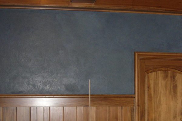 blue leather finish pool room textured waxed wakefield  faux finish decorative paint raleigh