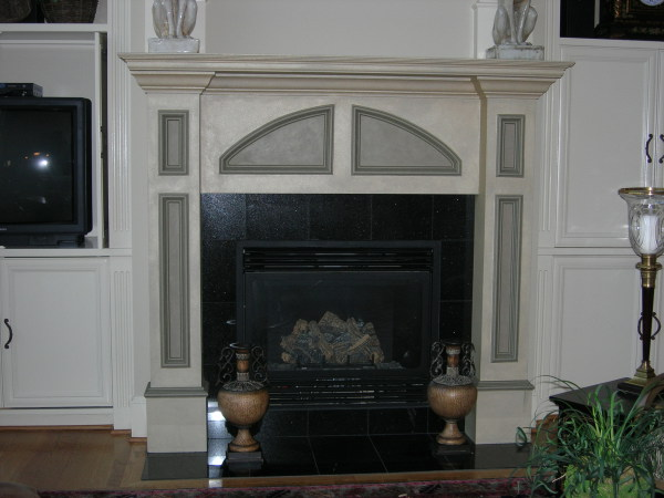 shimmer texture finish fireplace surround mantel, fabulous finishes by michelle