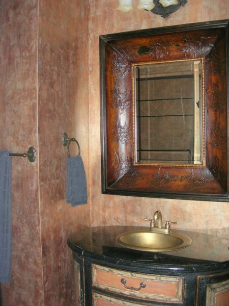 metallic slate blended texture copper bronze gold bathroom faux finish decorative paint raleigh