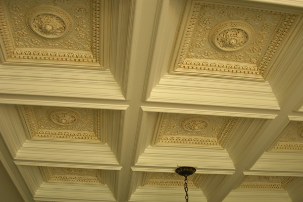 glazed carved coffers, wakefield, fabulous finishes by michelle