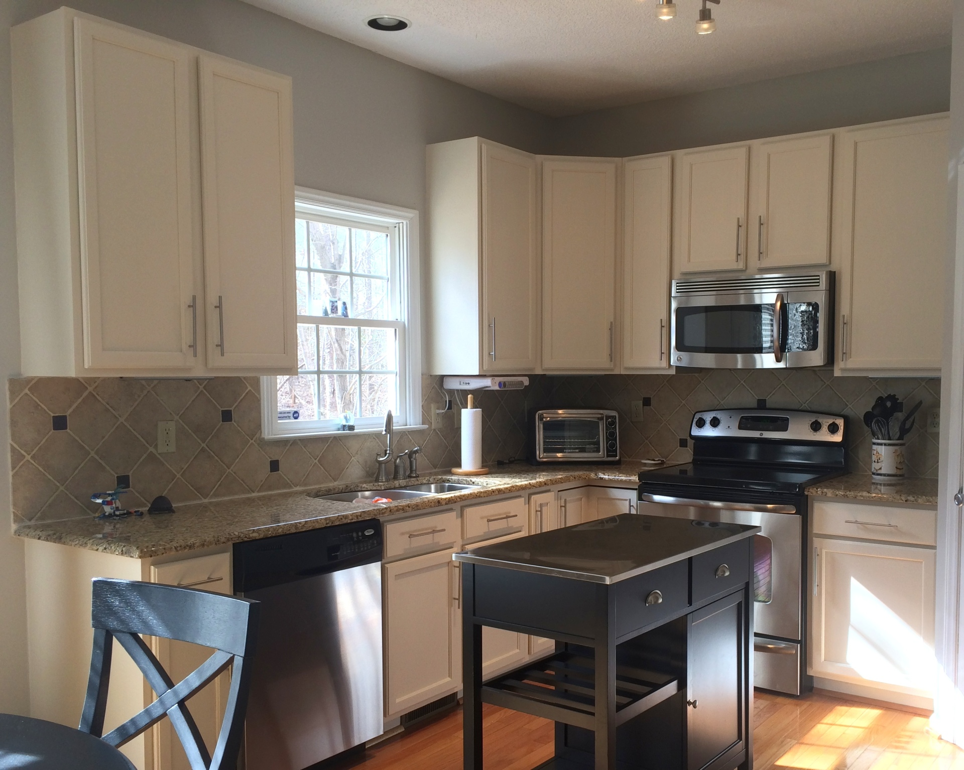 white painted oak kitchen cabinets dominion park raleigh deep river mercantile fabulous finishes by michelle