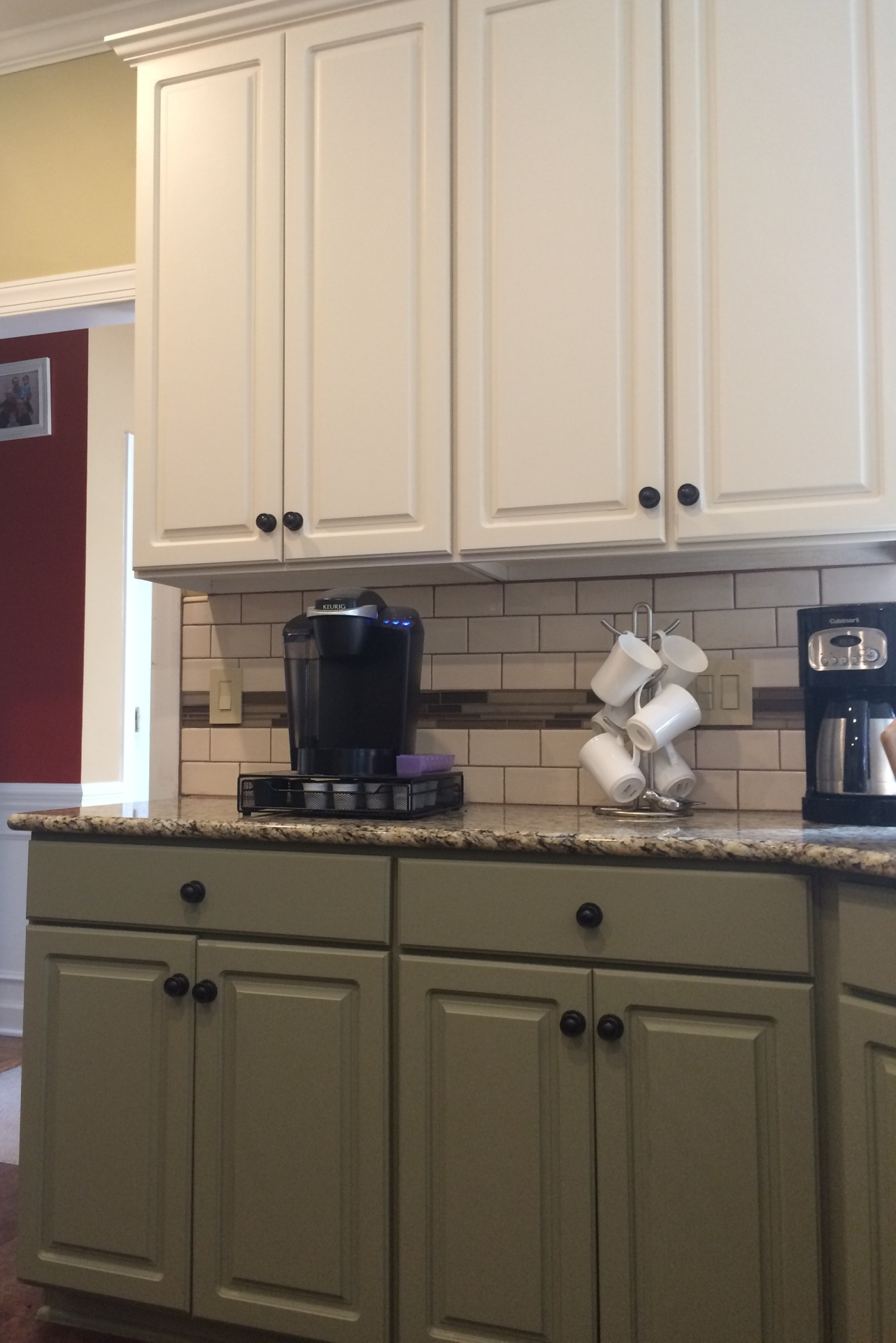 white upper sage green lower beyond paint kitchen cabinets cary nc deep river mercantile