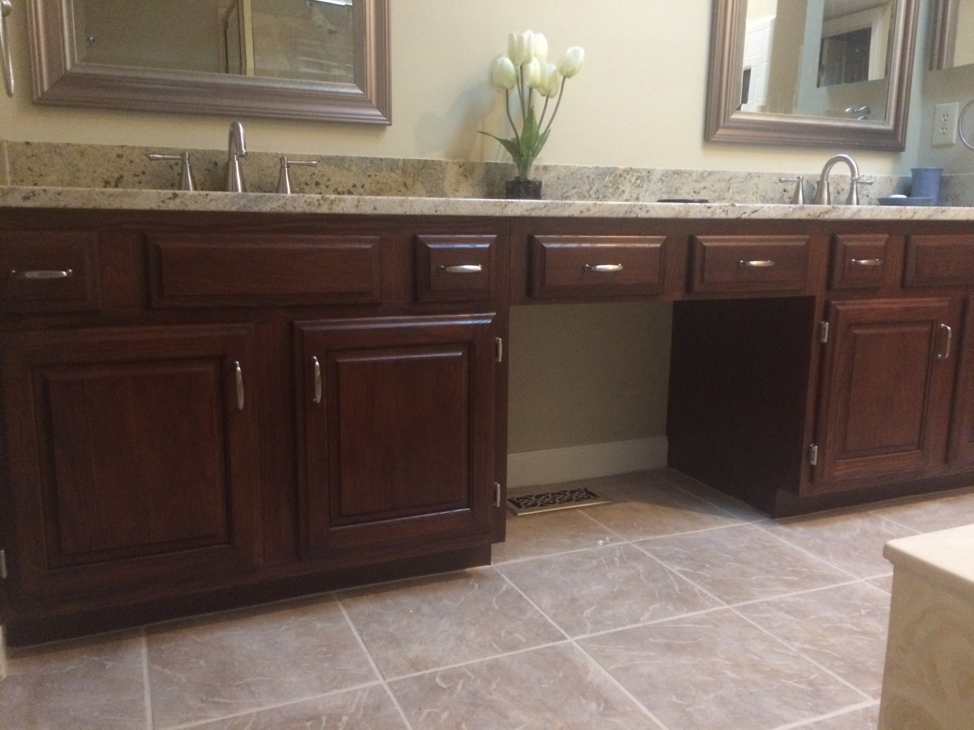 dark java mocha stain light oak cabinets fabulous finishes by michelle