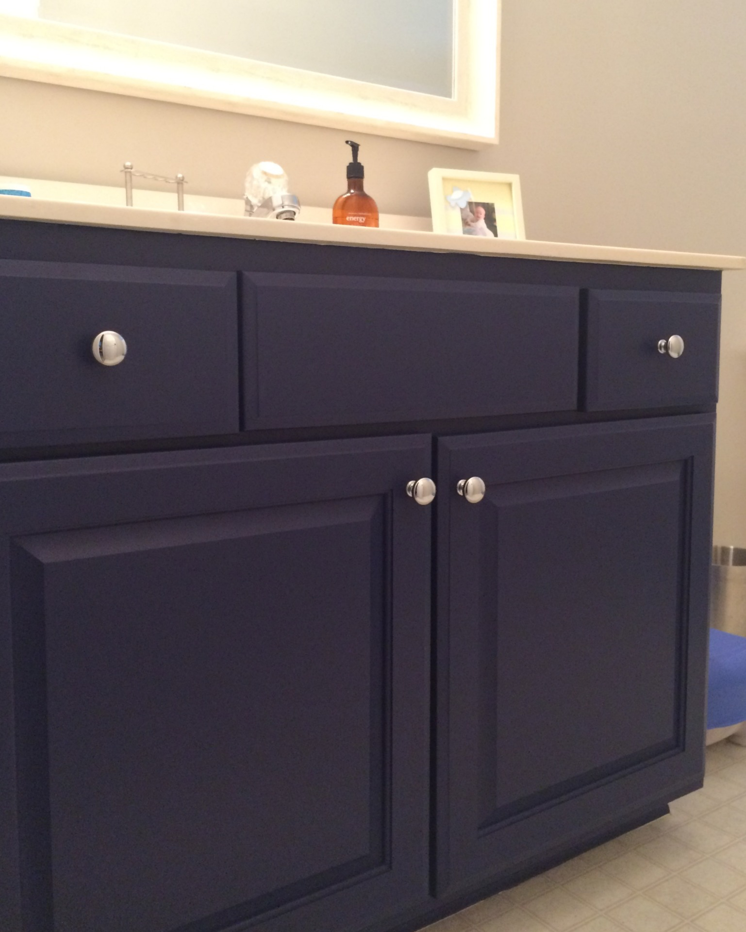 navy beyond painted bathroom vanity falls river deep river mercantile fabulous finishes by michelle