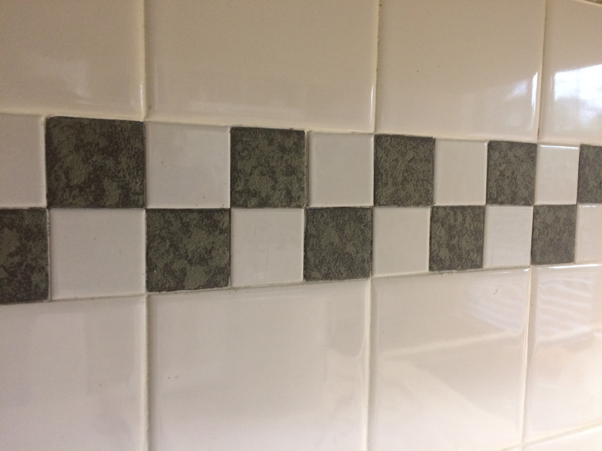 painted accent tile, kitchen backsplash, update, cary, nc