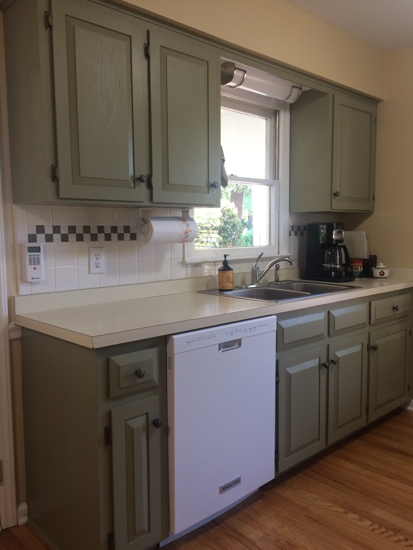 sage green beyond painted kitchen cabinets oak cary deep river mercantile