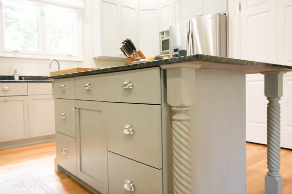 glazed cabinets governors club chapel hill beyond paint botanicals glaze caromal colours topcoat kitchen island