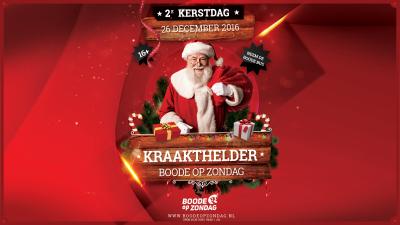 2e kerstdag vier je bij Boode op Zondag!!!