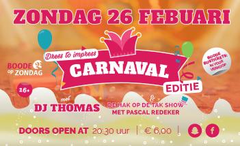 Carnaval bij Boode op Zondag!