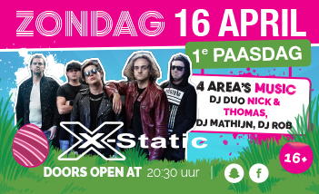 1e paasdag met X-Static!