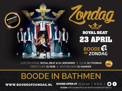 Royal Beat bij Boode op Zondag!