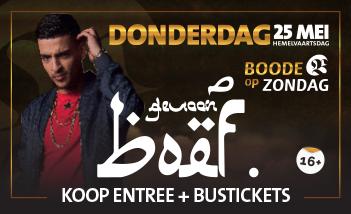 Rapper BOEF bij Boode op Zondag (Hemelvaartsdag)