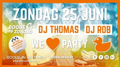DJ Thomas en DJ Rob!