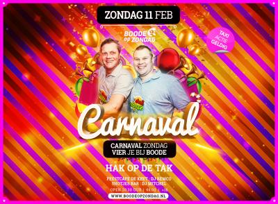 Carnaval bij Boode op Zondag