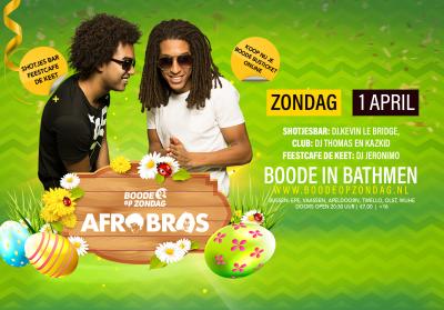 1e Paasdag: Afro Bros