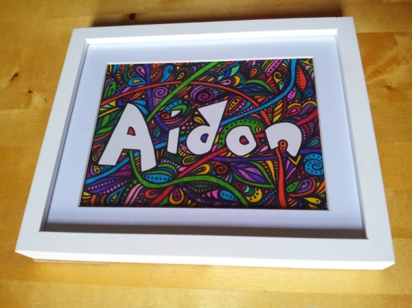 Framed Name Plaque