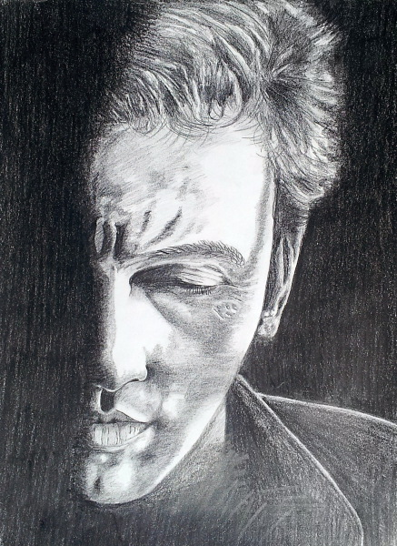 pencil drawing, Bruce Springsteen