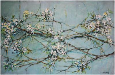 Flowers in blue palette
