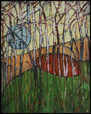 Abstract imaginative landscape