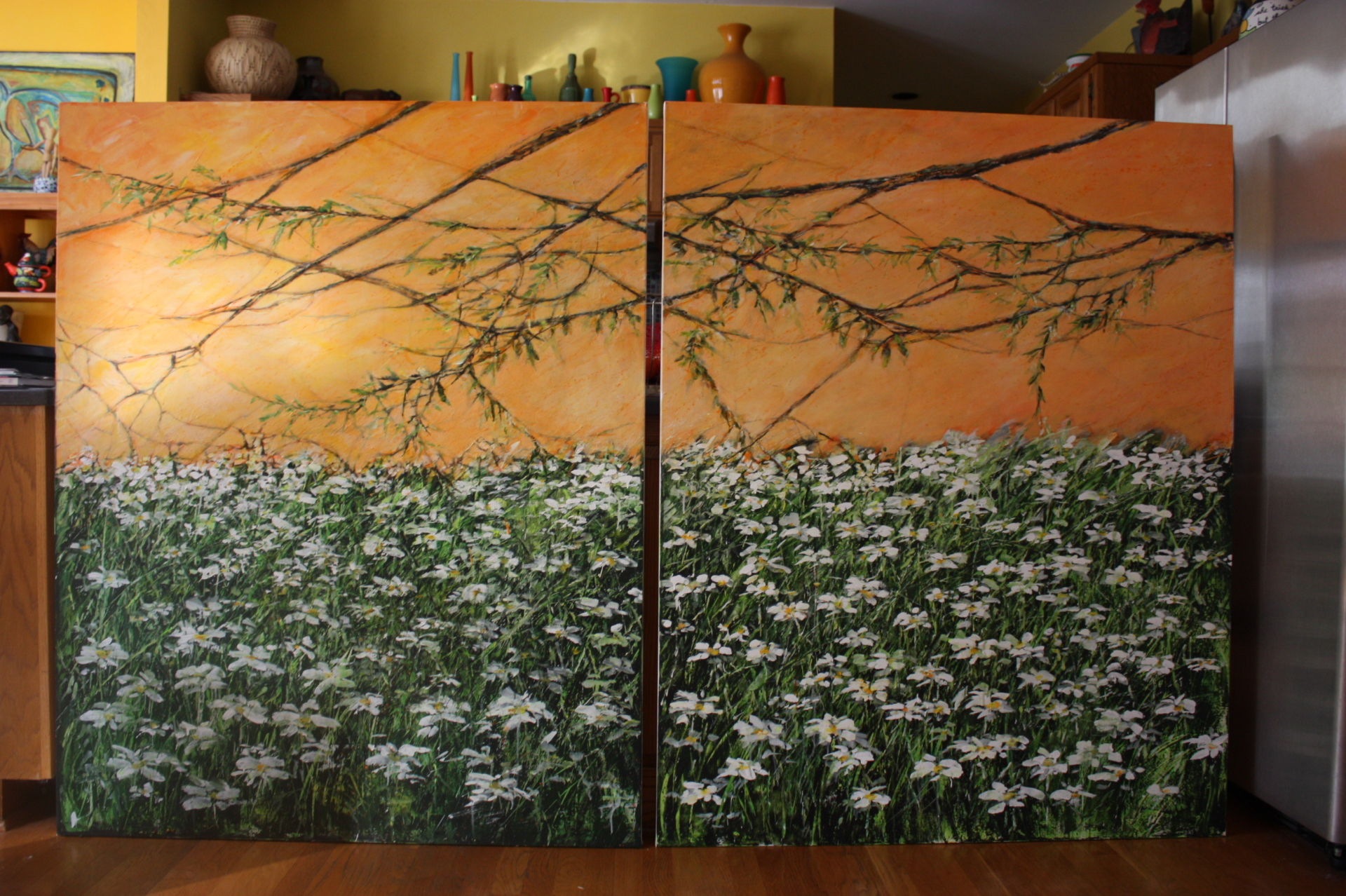Daisies diptych