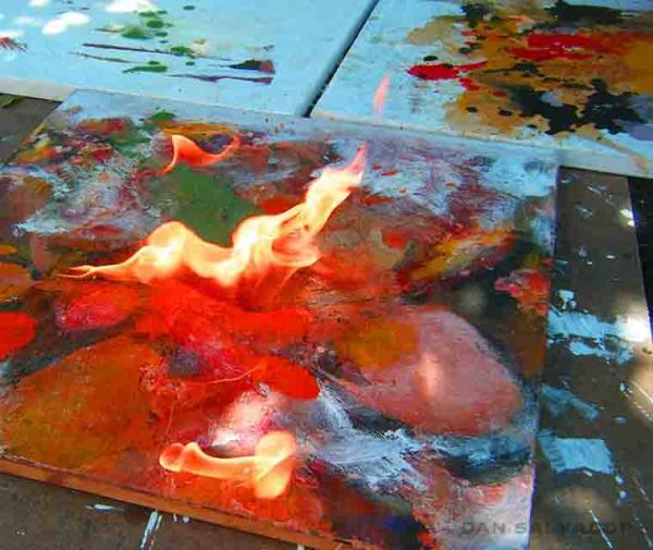 BURNING CANVAS IN PROGRESS