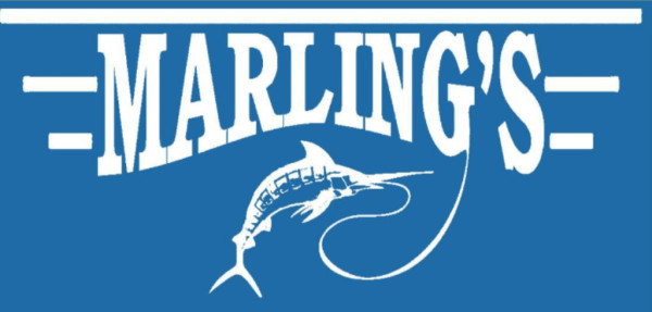 Logo for Marling's with fish representing water damage, flood, fire, smoke, mold, carpet cleaning, air duct cleaning, crime scene clean up, trauma scene clean up, Marling's Emergency Water Removal