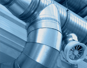Image of a commercial air duct system