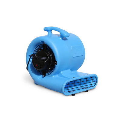 Image of an air mover, a piece of equipment used in professional water damage restoration