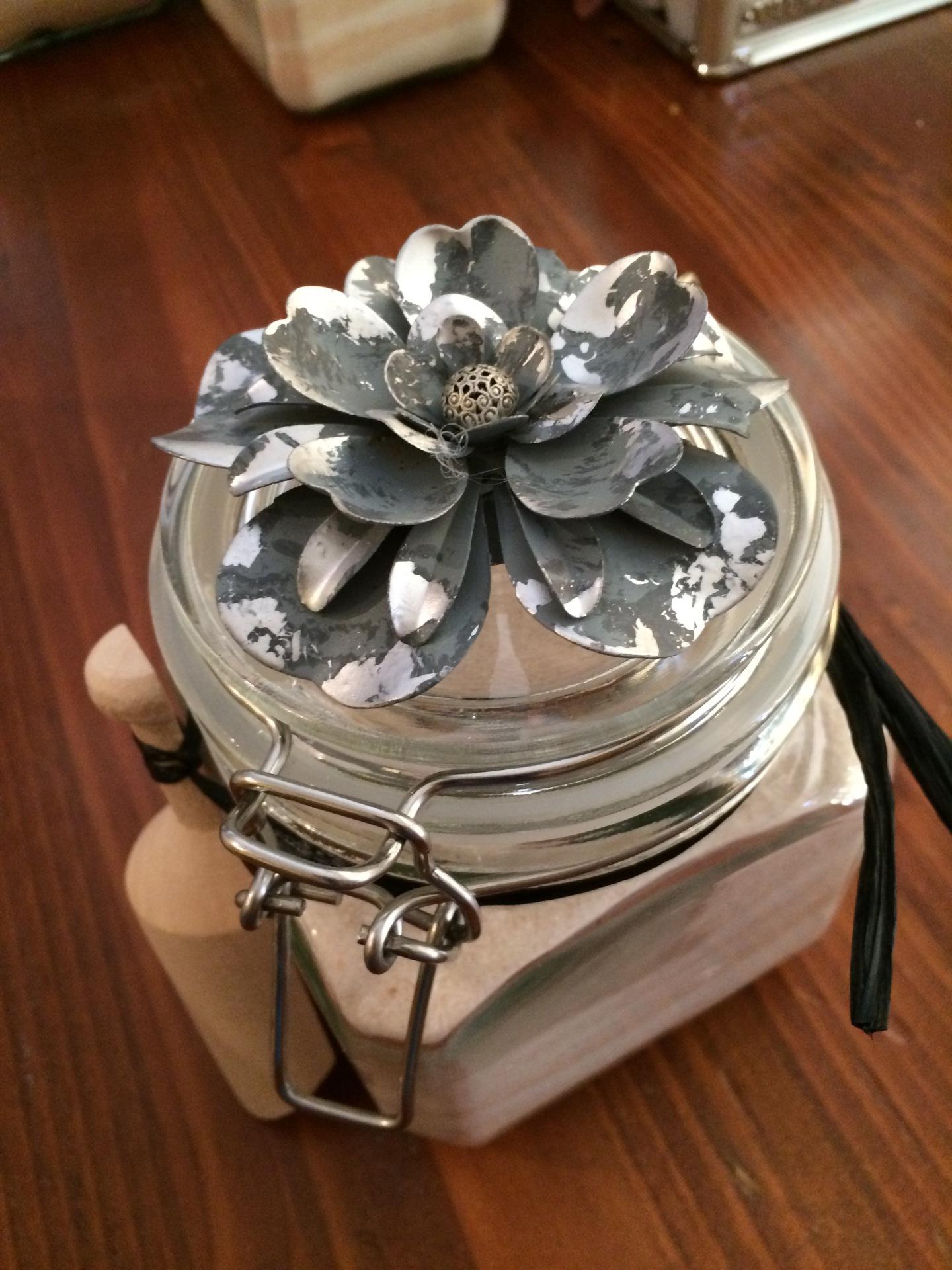 4 Cups Decorative jar Bath Salts  $45.00