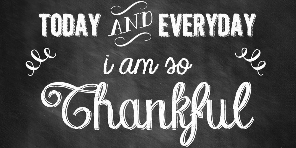 NOVEMBER: The Month of Gratitude