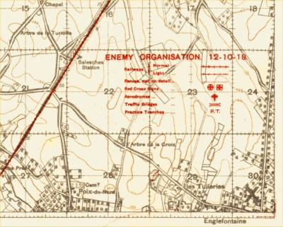 Trench map from 1918