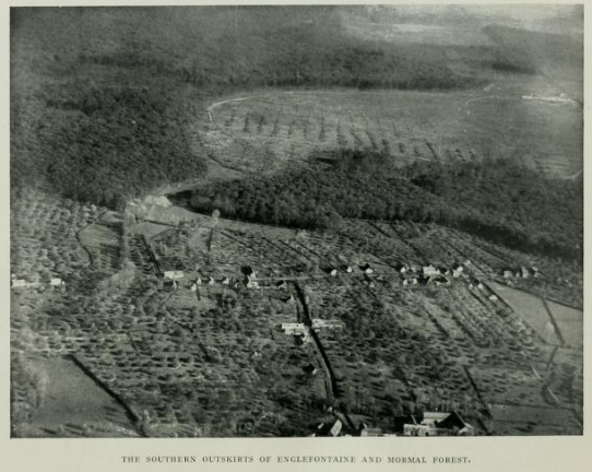 Photograph of Englefontaine from the air - 1918