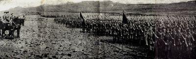 troops massing for battle