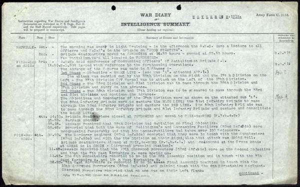 50th Brigade War Diary