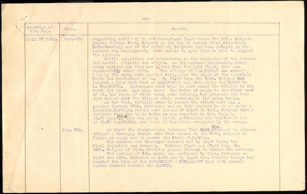 17th Division War Diary