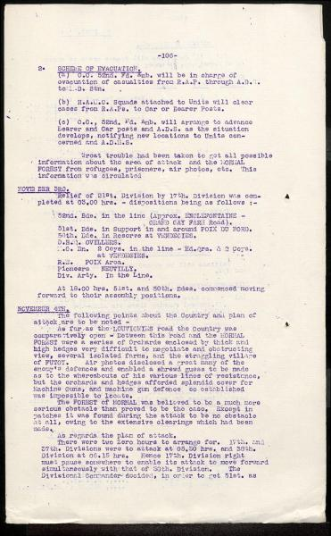 17th Division Narrative