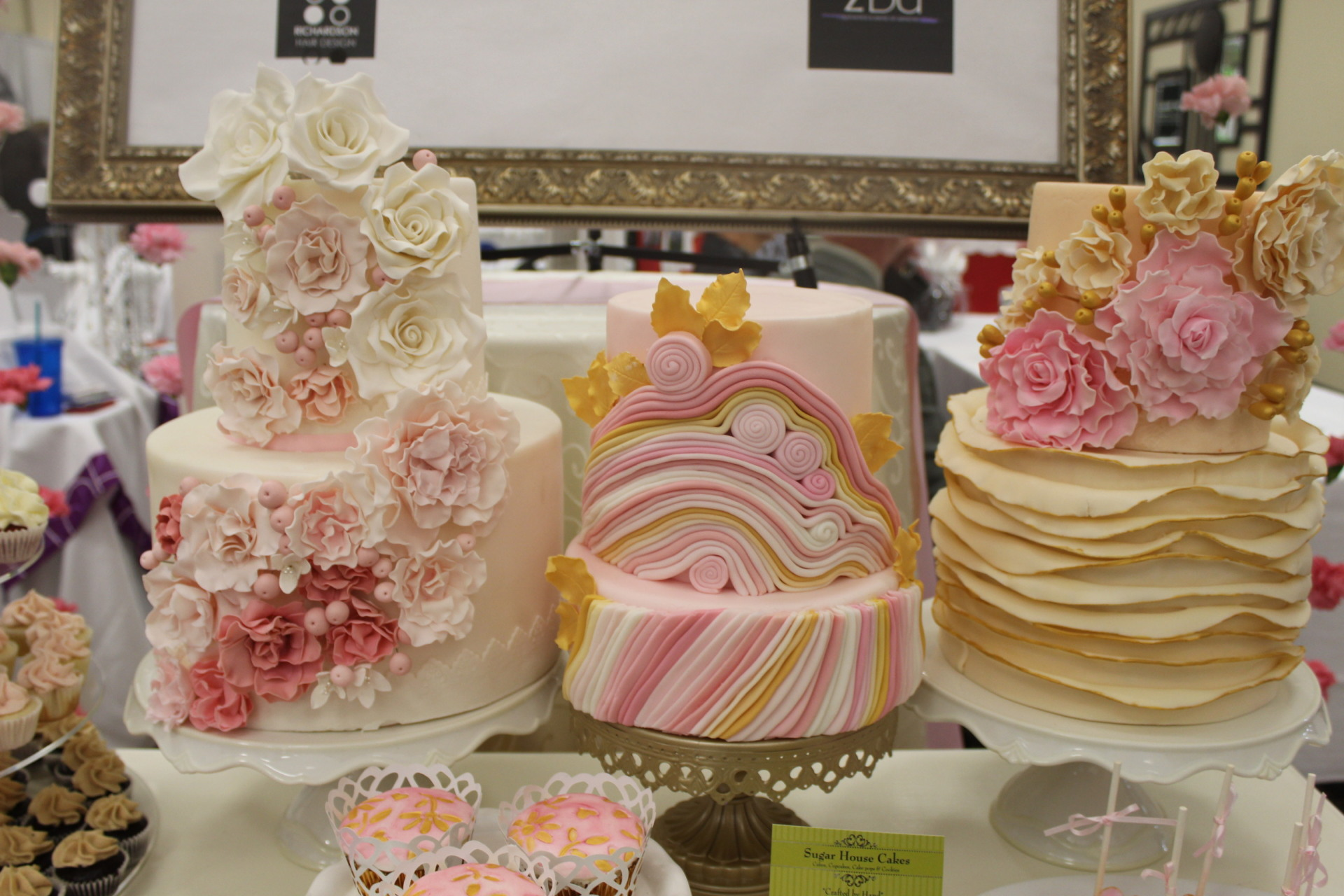 Wedding cakes pretty in pink